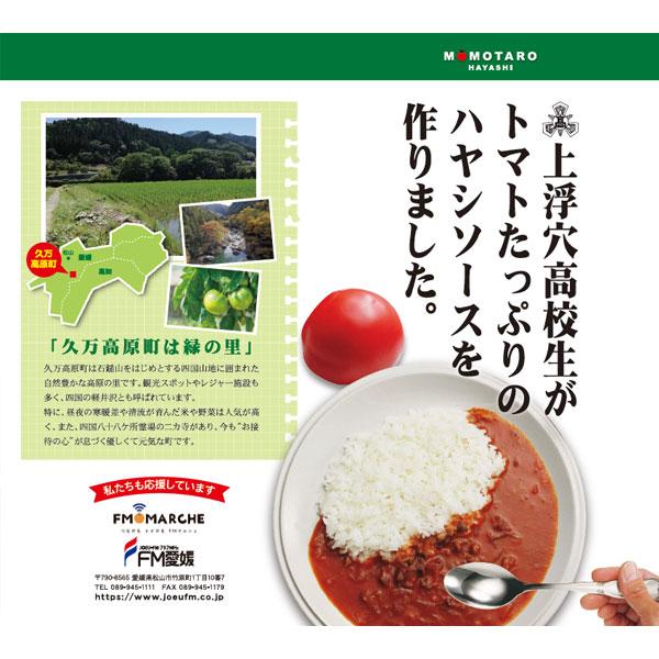 【食品ロス削減】上浮穴高校 桃太郎とまと ハヤシソース×2パックセット