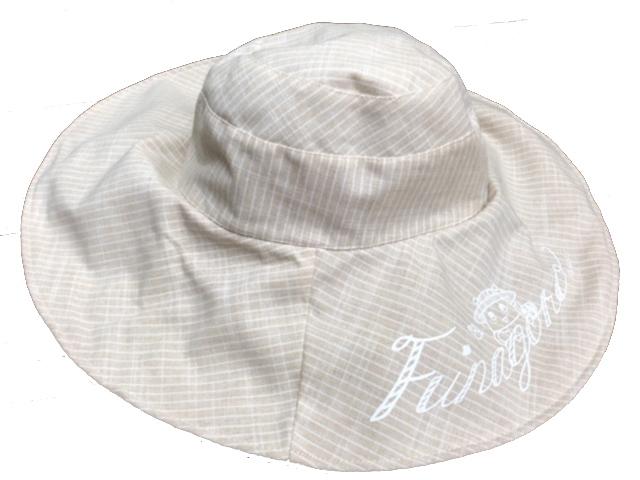 ふなごろー つば広帽子(薄茶)