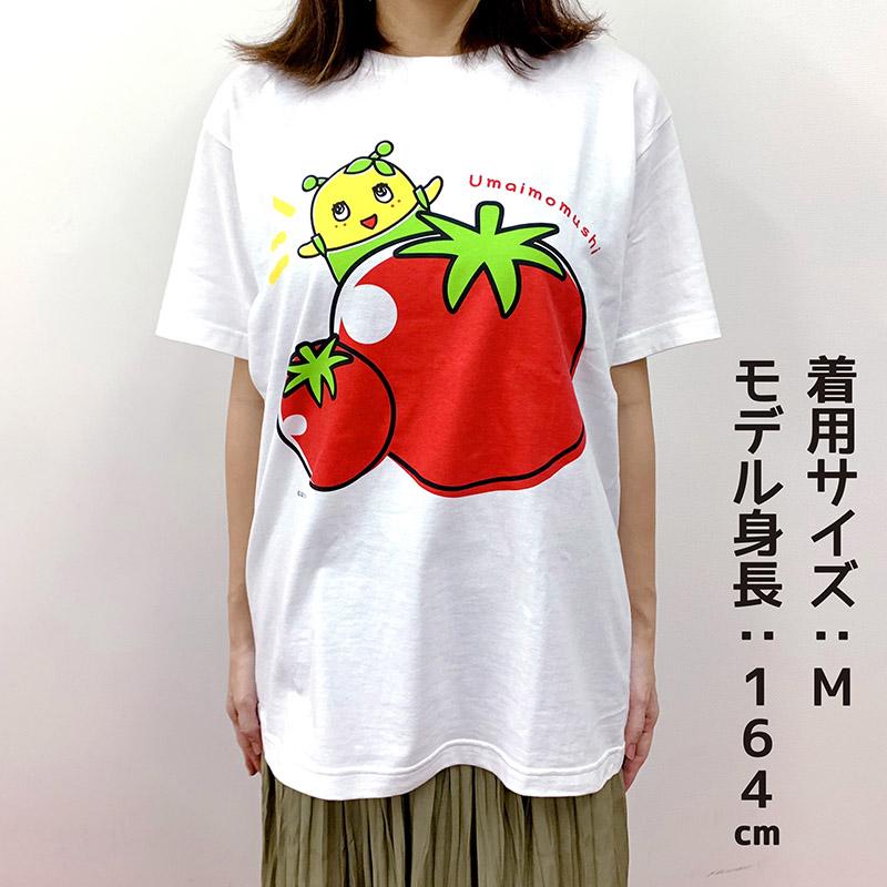 ふなっしーLAND ふなごろートマトうまいもむしTシャツ Mサイズ
