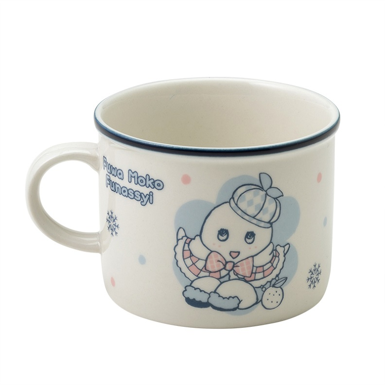 ふわもこふなっしー ホーロー風スープマグカップ