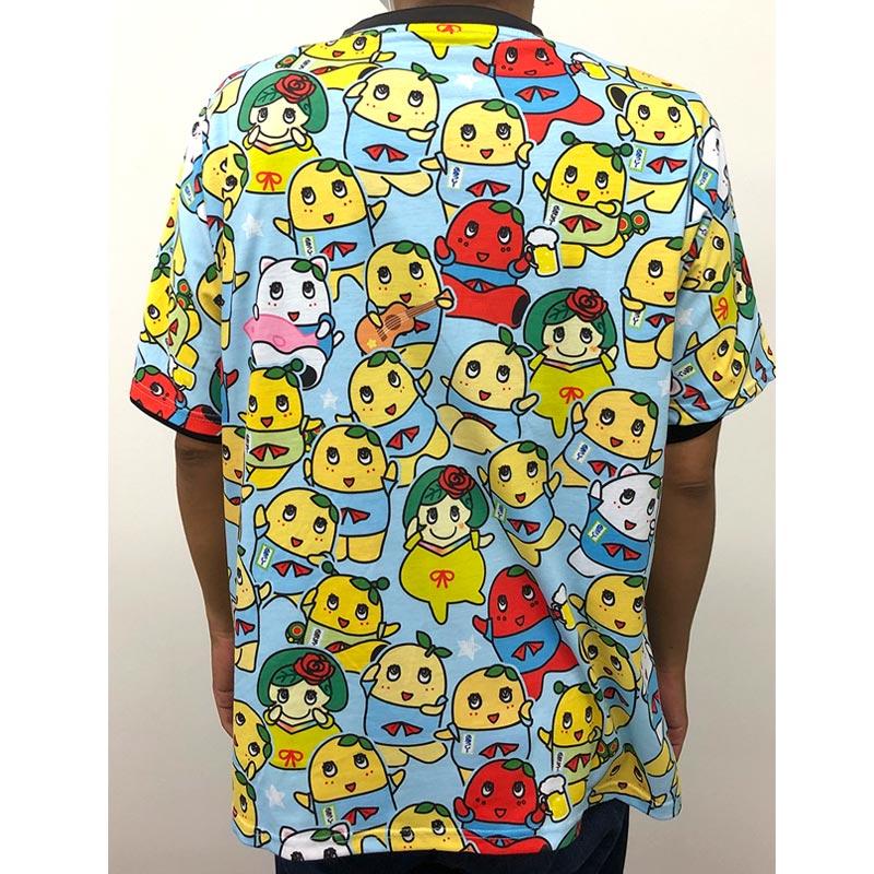 ふなっしーLAND 全面プリントTシャツ(梨ファミリー)