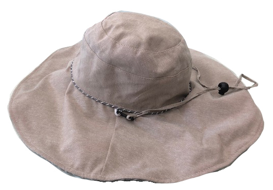 ふにゃっしー つば広帽子(グレー)