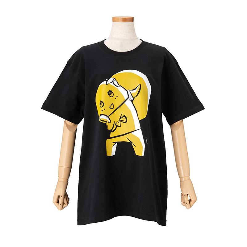 和ふなっしー〜切り絵風〜 Tシャツ(黒)