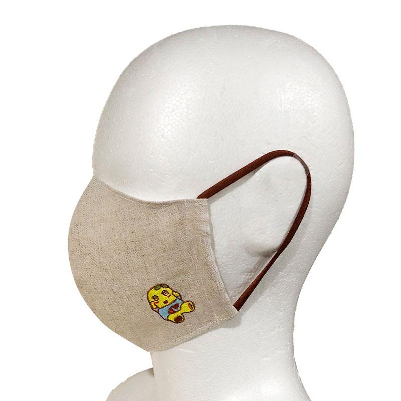 ふなっしーLAND 刺繍リネンマスク