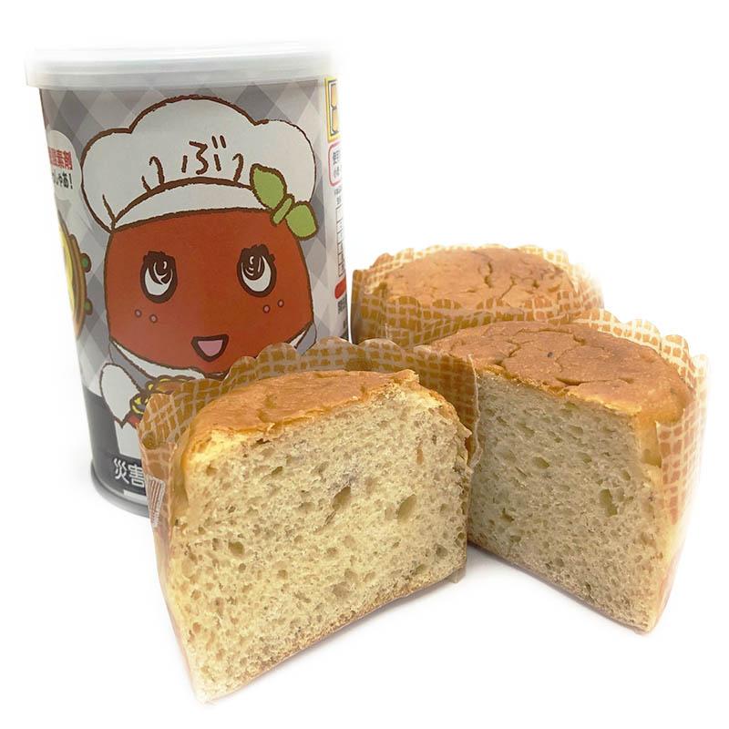 FLふなっしーパンの缶づめ_ブッシャア黒豆味(災害備蓄用パン)