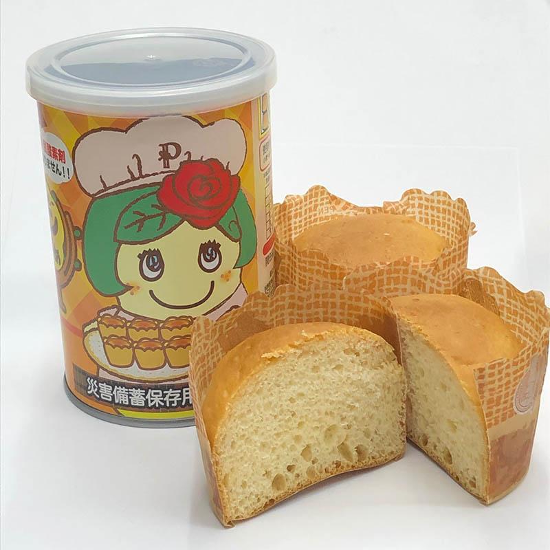 FLふなっしーパンの缶づめ_ペアンヌオレンジ味(災害備蓄用パン)