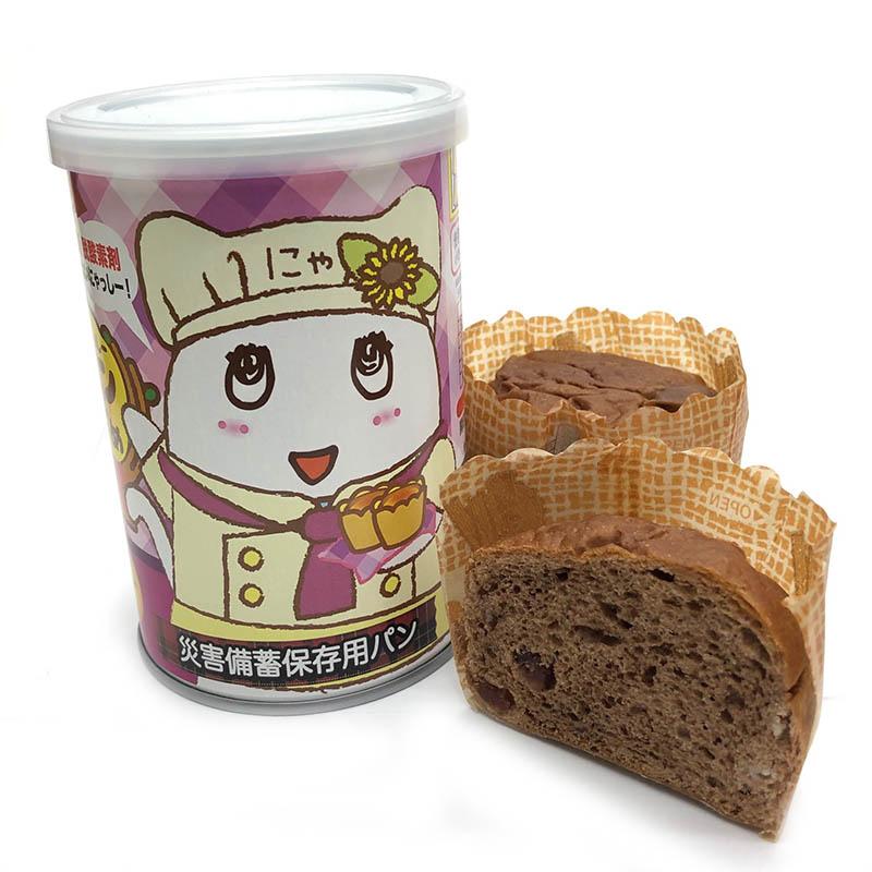 FLふなっしーパンの缶づめ_ふにゃっしークランベリー味(災害備蓄用パン)