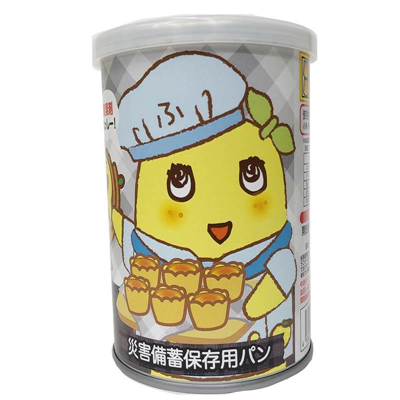 FLふなっしーパンの缶づめ_ふなっしー黒豆味(災害備蓄用パン)