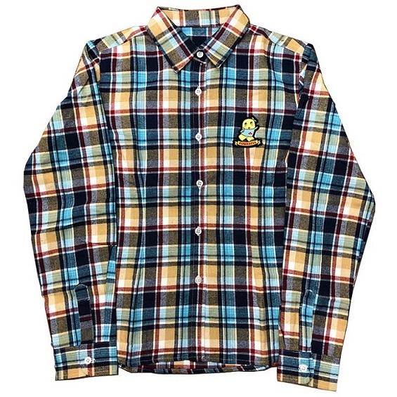 ふなっしーネルシャツ ブルー