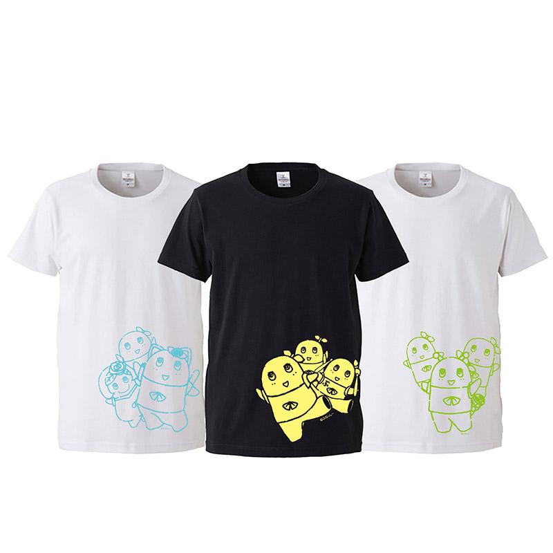 ふなっしー3枚セットTシャツ(サイドパターン)