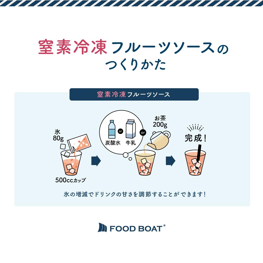 冷凍フルーツソース 130g×120袋 ストロベリー&桑の実(ナタデココ入)1杯あたり138円