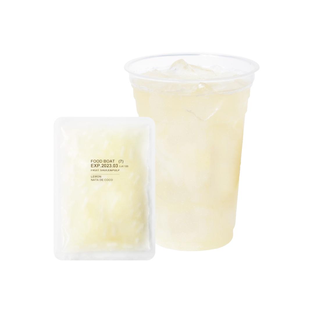 窒素冷凍フルーツソース 台湾レモン&ナタデココ 90g×10袋/1杯あたり120円