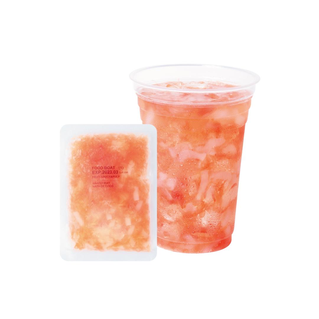 冷凍フルーツソース 130g×120袋 グレープフルーツ(ナタデココ入)1杯あたり138円