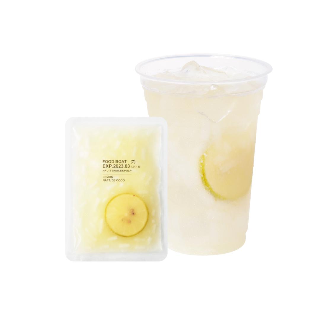冷凍フルーツソース 130g×120袋 台湾レモン&ナタデココ130g×120袋/1杯あたり@138円