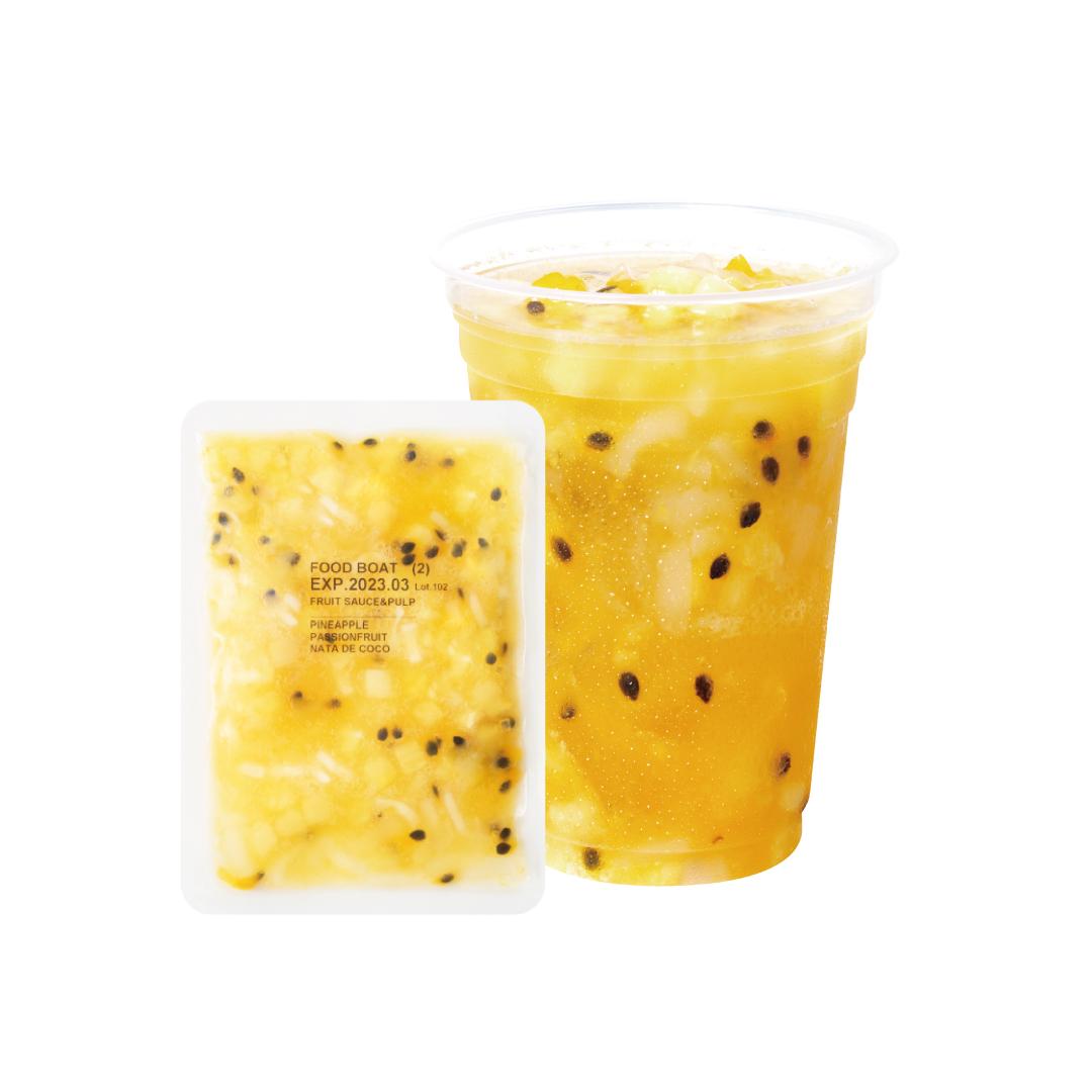 【混載】フルーツソース 130g×10袋 パイナップル&パッションフルーツ 最低購入数2(20パック)