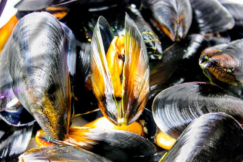 ムール貝 1kg(ボイル・殻つきムール貝・500g×2パック)