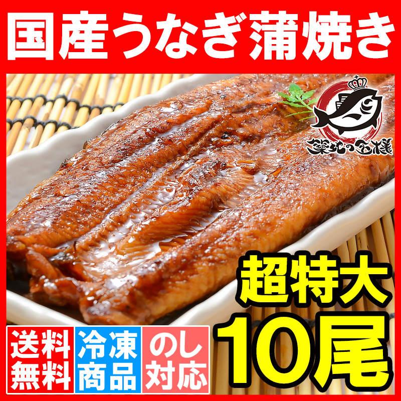 送料無料 特大うなぎ蒲焼き 平均250g前後×10尾 (国産うなぎ ウナギ 鰻)