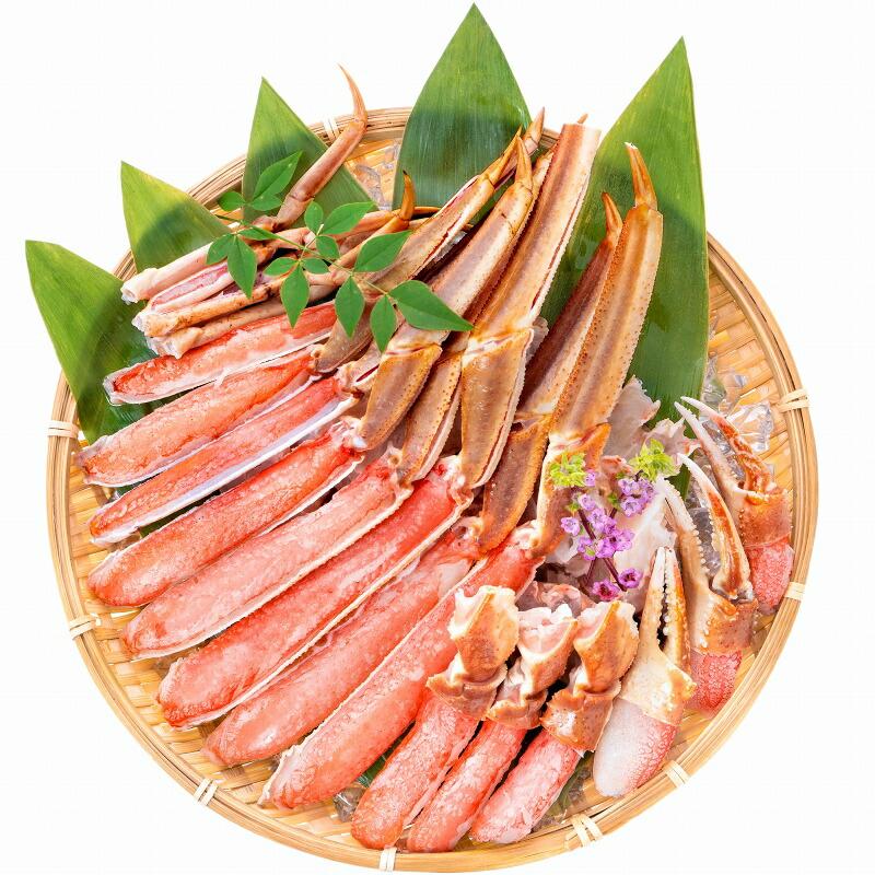 カット済み ズワイガニ ずわいがに セット 冷凍総重量約1.25kg 解凍時約 1kg