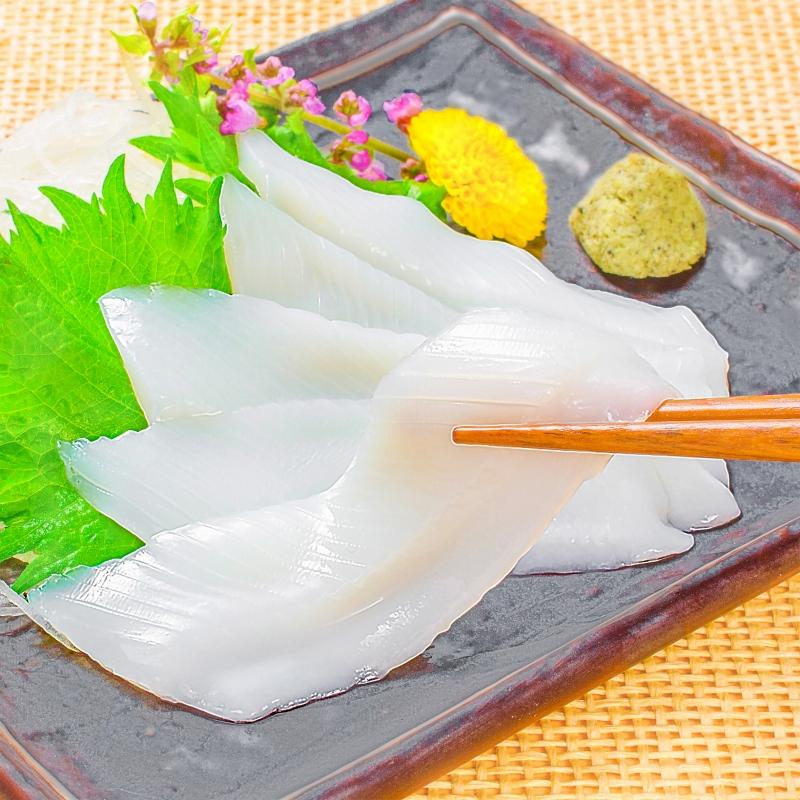 真イカ スライス20枚 寿司ネタ・刺身用 (するめいか スルメイカ 烏賊)