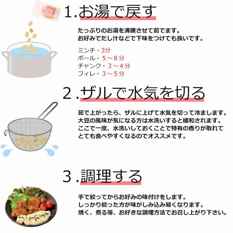 メール便送料無料 大豆ミート ソイミート ミンチ ひき肉タイプ 160g ×4パック