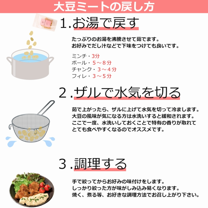 メール便送料無料 大豆ミート ソイミート フィレ バラ肉タイプ 100g ×10パック