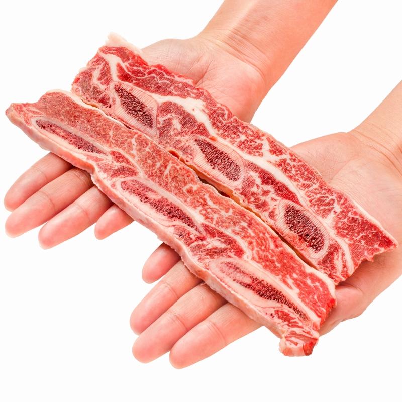 送料無料 牛骨付きカルビ 焼肉 1kg 業務用 牛肉 骨付きカルビ