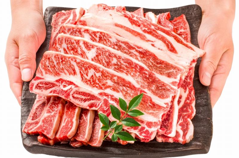 送料無料 牛骨付きカルビ 焼肉 合計5kg 1kg×5パック 業務用 牛肉 骨付きカルビ