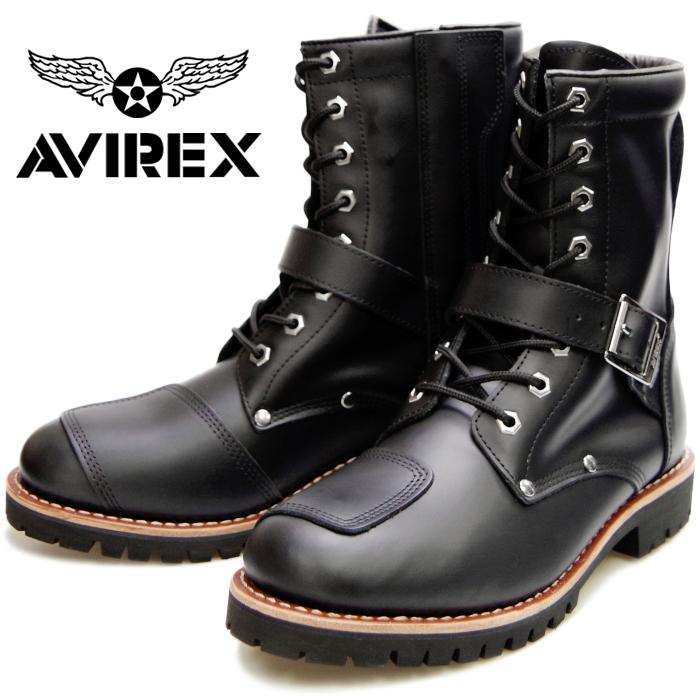 AVIREX YAMATO AV2100 アビレックス ブーツ ヤマト BLACK メンズ レディース エンジニアブーツ サイドジッパー バイカーブーツ ミリタリーブーツ 革靴