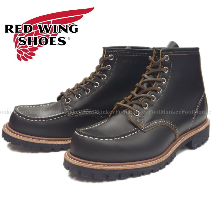 "レッドウィング アイリッシュセッター RED WING 9878 [Black ""Klondike""] IRISH SETTER 6"" Moc-toe Vibram Lug Sole"