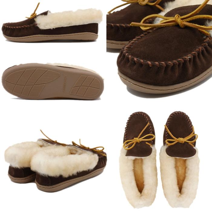 ミネトンカ モカシン ボア 正規品 MINNETONKA ALPINE SHEEPSKIN MOC シープスキン レディース スエード カジュアルシューズ スリッポン 本革 ボア もこもこ 靴