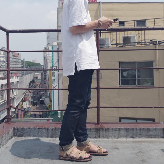 【SALE:50%OFF】 WHEEL ROBE ウィールローブ WANDERING SANDALS 15082S ベージュカリコスエード HORWEEN ホーウィン スポーツサンダル サンダル メンズ レザー 日本製