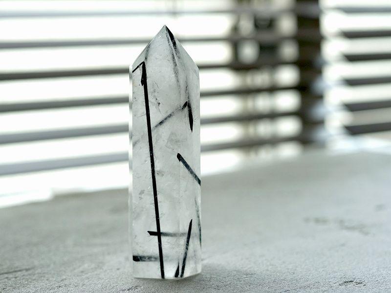 ブラックルチル (トルマリン) 六角柱 No.3