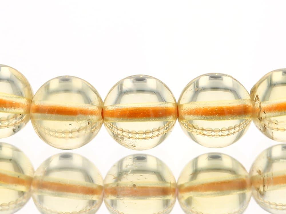 天然シトリン   (非加熱・無処理) ブレスレット 6.5mm玉 No.22 最高級【プレミアム】