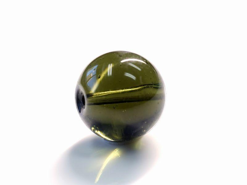 モルダバイト 1粒バラ売り 穴あきビーズ【1点物】 10mm玉 No.2 最高級プレミアムクラス