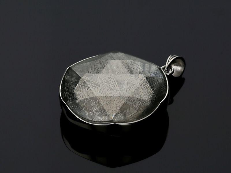 ギベオン隕石 六芒星 ペンダントトップ Lサイズ シルバー(SV925)