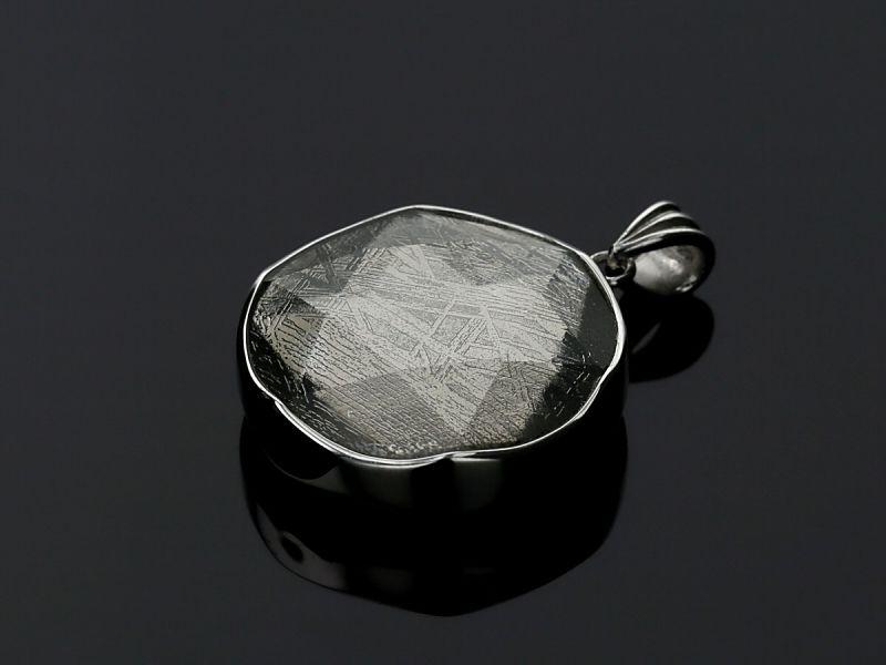 ギベオン隕石 六芒星 ペンダントトップ Mサイズ シルバー(SV925)