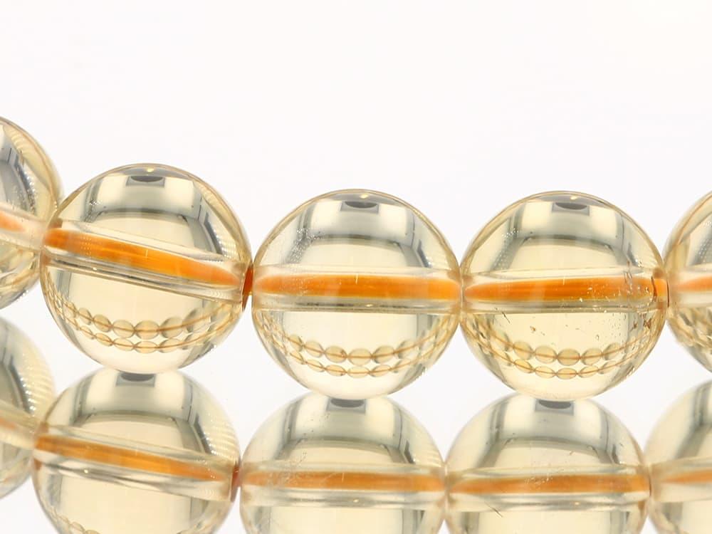 天然シトリン   (非加熱・無処理) ブレスレット 9.5mm玉 No.28 最高級【プレミアム】