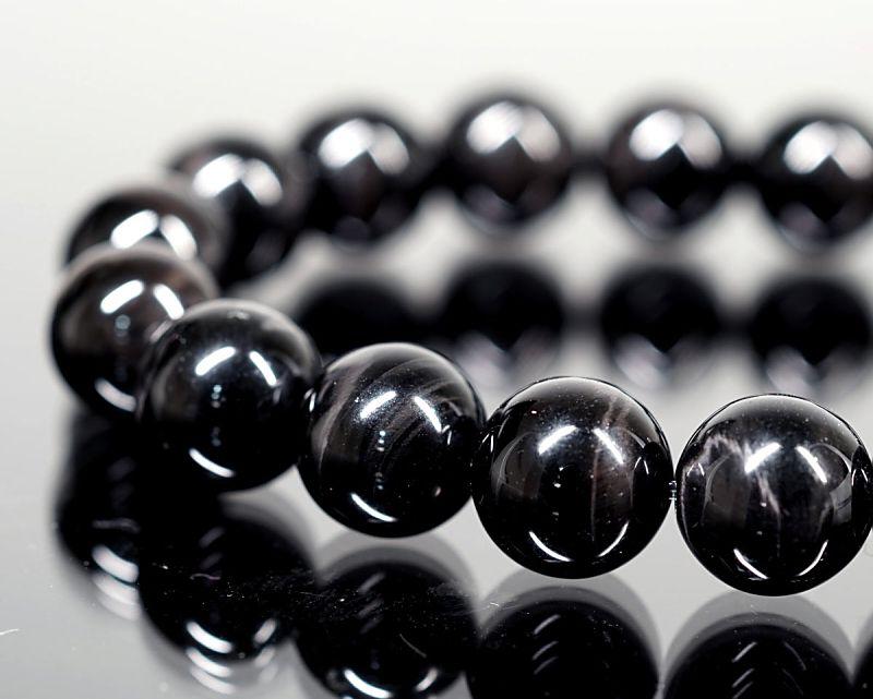 ブラックタイガーアイ ブレスレット 10mm玉 最高級(5A)
