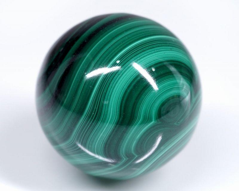 マラカイト 丸玉置物 25mm玉 (EARTHIST 台座付き)