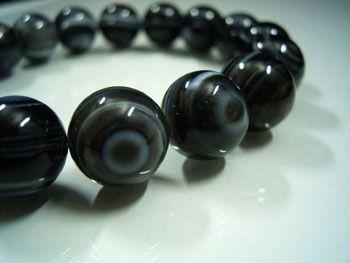 ブラック天眼石ブレスレット 12mm玉