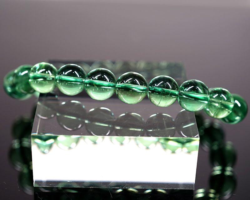 グリーンフローライト ブレスレット 10mm玉