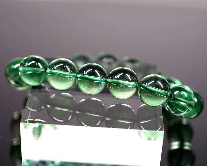 グリーンフローライト ブレスレット 12mm玉