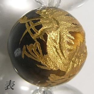 【龍・ゴールド】 手彫金龍タイガーアイ(2玉)ブレスレット 10mm玉