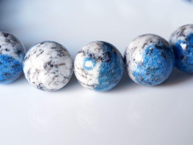 K2ブルー アズライト ブレスレット 10.5mm玉 No.14