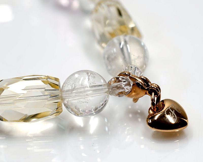 【結婚・幸運】 bellecoeur モルガナイト &ヒマラヤ水晶 ブレスレット