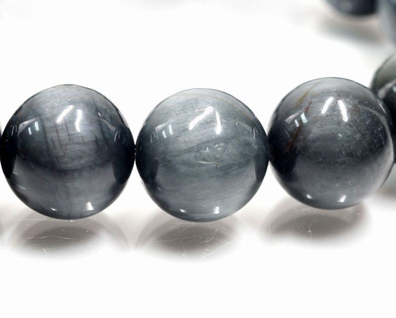 グレータイガーアイ ブレスレット (イーグルアイ) 14mm玉 最高級(5A)