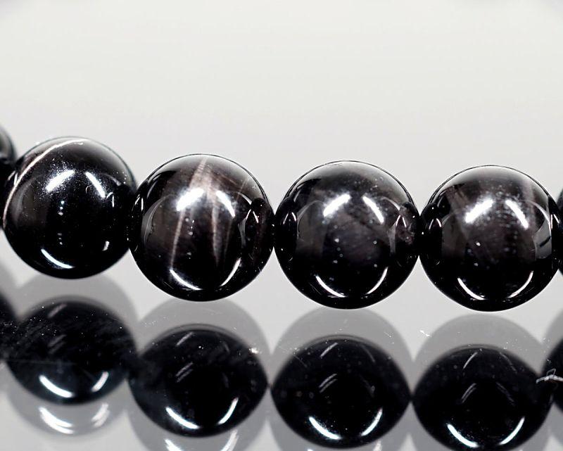 ブラックタイガーアイ ブレスレット 6mm玉 最高級(5A)