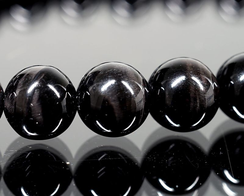 ブラックタイガーアイ ブレスレット 8mm玉 最高級(5A)