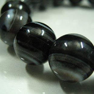 ブラック天眼石ブレスレット 10mm玉