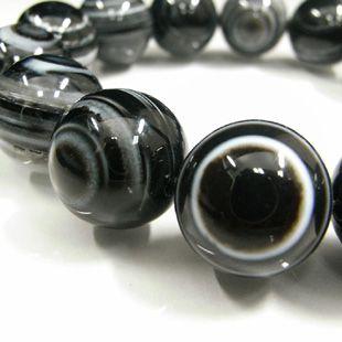 ブラック天眼石ブレスレット 16mm玉